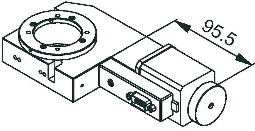 DT-80 stepper motor drawing