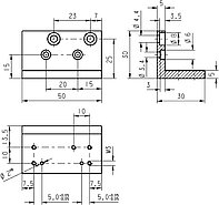 PI M-009.20 Mounting Bracket Drawing