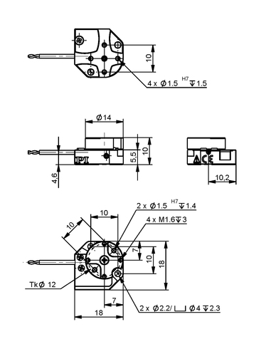PI Q-614 Drawing