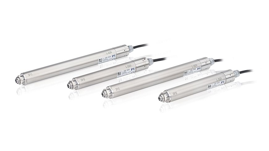 L-220 linear actuators are available in various length versions and with DC or stepper motor with gearhead